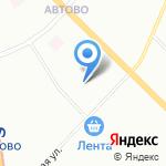Муниципальное образование округ Автово на карте Санкт-Петербурга