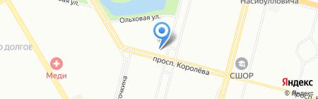 Магазин верхней одежды и кожгалантереи на проспекте Королёва на карте Санкт-Петербурга