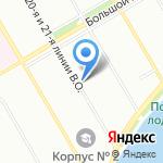 Балтийский Дом Медицинской Торговли на карте Санкт-Петербурга