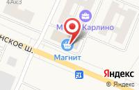 Схема проезда до компании Магнит в Малом Карлино