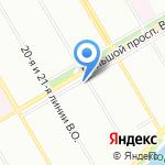 Шезан на карте Санкт-Петербурга