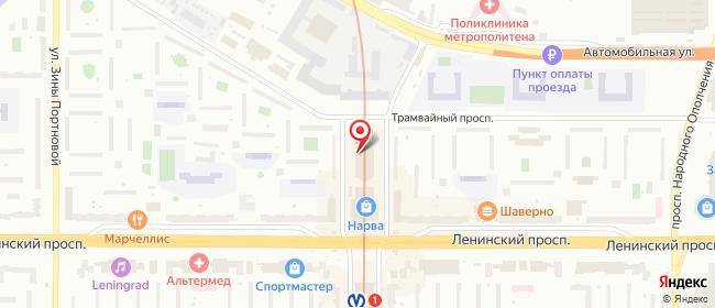Карта расположения пункта доставки Санкт-Петербург Трамвайный в городе Санкт-Петербург