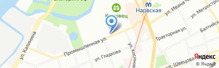 Волна на карте Санкт-Петербурга
