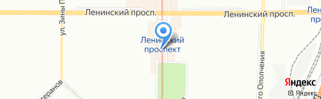 Pegas Touristik на карте Санкт-Петербурга