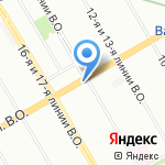Магазин бижутерии и головных уборов на карте Санкт-Петербурга