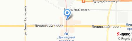 Магазин одежды для мужчин на карте Санкт-Петербурга