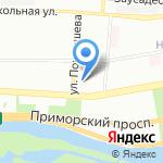Средняя общеобразовательная школа №46 с углубленным изучением английского языка на карте Санкт-Петербурга