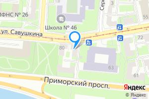 Комната в двухкомнатной квартире в Санкт-Петербурге ул. Савушкина, 78