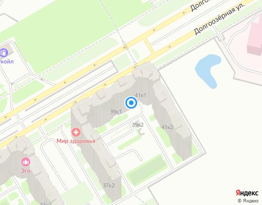 Товарищество собственников жилья «Долгоозерная ул., 39/1» на карте Санкт-Петербурга