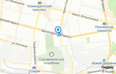 Местоположение на карте пункта техосмотра по адресу г Санкт-Петербург, пр-кт Богатырский, д 14