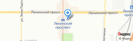 Печатник на карте Санкт-Петербурга
