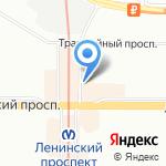 Чаровница на карте Санкт-Петербурга