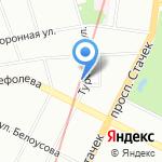 На Турбинной на карте Санкт-Петербурга