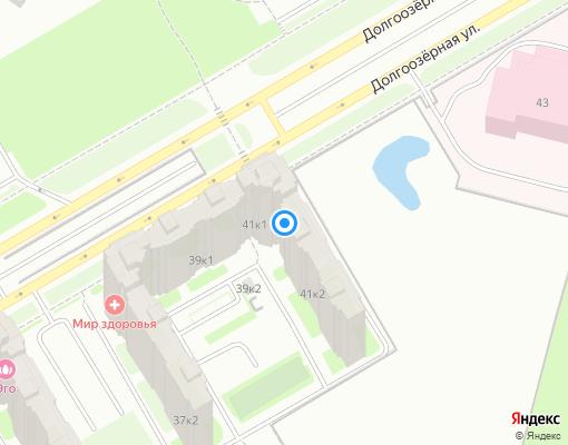 Товарищество собственников жилья «Долгоозерная 41/1» на карте Санкт-Петербурга