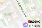 Схема проезда до компании Продовольственный магазин в Санкт-Петербурге