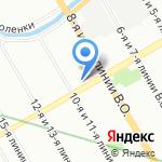Золотой гвоздь на карте Санкт-Петербурга