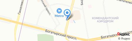 Шиномонтажная мастерская на Комендантском проспекте на карте Санкт-Петербурга