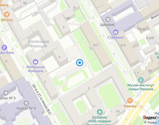 Управляющая компания «ВАСИЛЕОСТРОВЕЦ» на карте Санкт-Петербурга