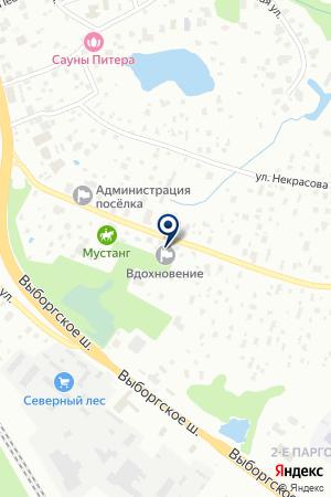 Вдохновение на карте Санкт-Петербурга