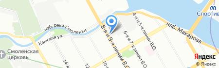 ТДК Феникс на карте Санкт-Петербурга