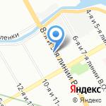 Ленинградец на карте Санкт-Петербурга