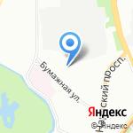 Бумажная 9 на карте Санкт-Петербурга