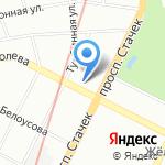 На лужайке на карте Санкт-Петербурга