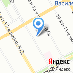 ИВА на карте Санкт-Петербурга