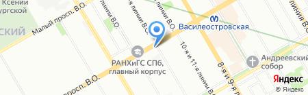 Кельвин на карте Санкт-Петербурга