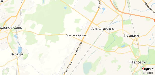 Малое Карлино на карте