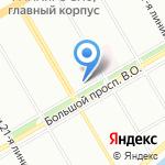 Администрация Василеостровского района г. Санкт-Петербурга на карте Санкт-Петербурга