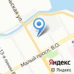 Главное Страховое Агентство на карте Санкт-Петербурга