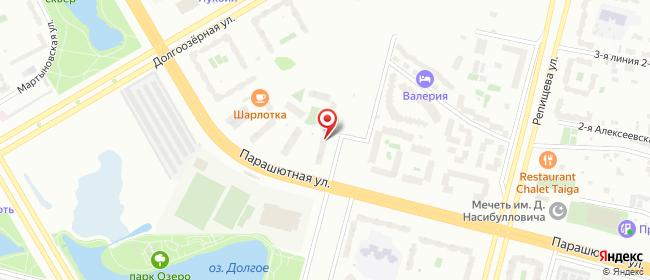 Карта расположения пункта доставки На Парашютной в городе Санкт-Петербург