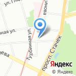 У Нарвских ворот на карте Санкт-Петербурга