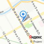 Сбербанк на карте Санкт-Петербурга