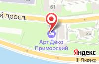 Схема проезда до компании ЦВЕТОЧНАЯ МАСТЕРСКАЯ FLOWER POWER в Приморске