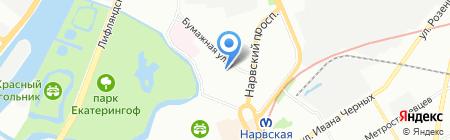 Фордевинт на карте Санкт-Петербурга