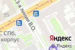 Схема проезда до компании Оркли в Санкт-Петербурге