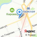 Биллар на карте Санкт-Петербурга