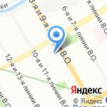 ЦУП на карте Санкт-Петербурга