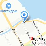 ЛОС на карте Санкт-Петербурга