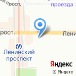 1xBet на карте Санкт-Петербурга