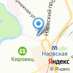 На минутку на карте Санкт-Петербурга