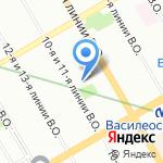 Центр повышения квалификации специалистов образования Василеостровского района на карте Санкт-Петербурга