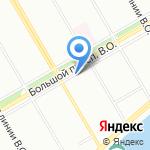 Радиус на карте Санкт-Петербурга