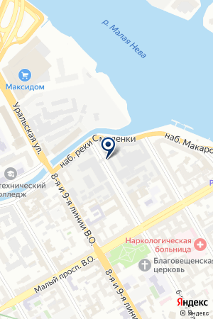 СТРАХОВОЕ ОБЩЕСТВО ГАЛЭКС на карте Санкт-Петербурга