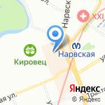 Мультик на карте Санкт-Петербурга