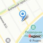Медведь на карте Санкт-Петербурга