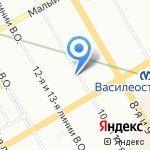 Магазин верхней и женской одежды и обуви на карте Санкт-Петербурга