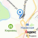 А`море на карте Санкт-Петербурга